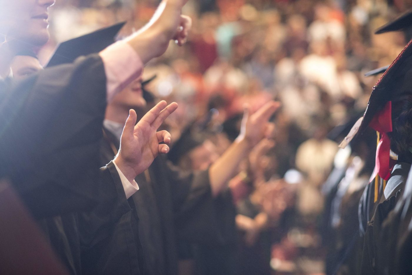 Graduation – Graduates Hands In Air