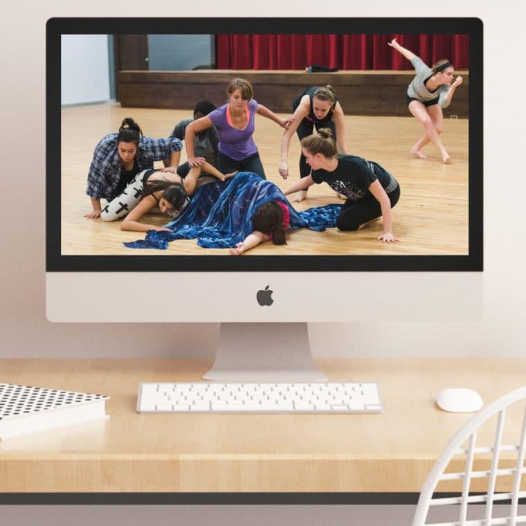 dance class on a desktop computer