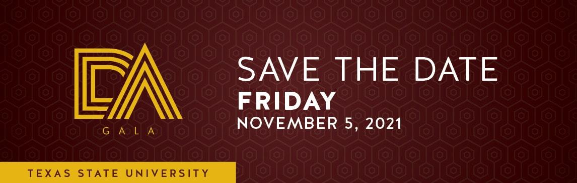 Distinguished Alumni Gala Save the Date Friday November 5, 2021
